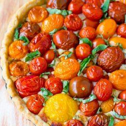 Perfect Fresh Tomato Tart Recipe   ASpicyPerspective.com