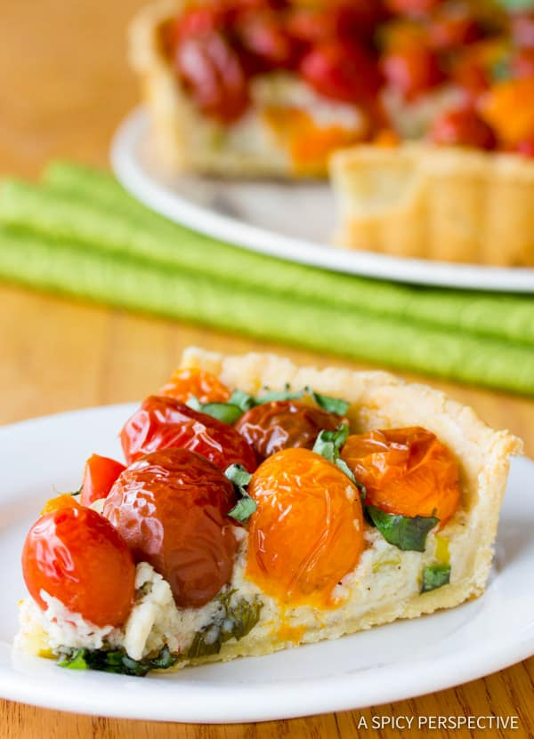 Heavenly Fresh Tomato Tart Recipe   ASpicyPerspective.com