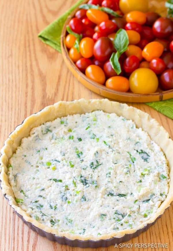 How To: Fresh Tomato Tart Recipe   ASpicyPerspective.com