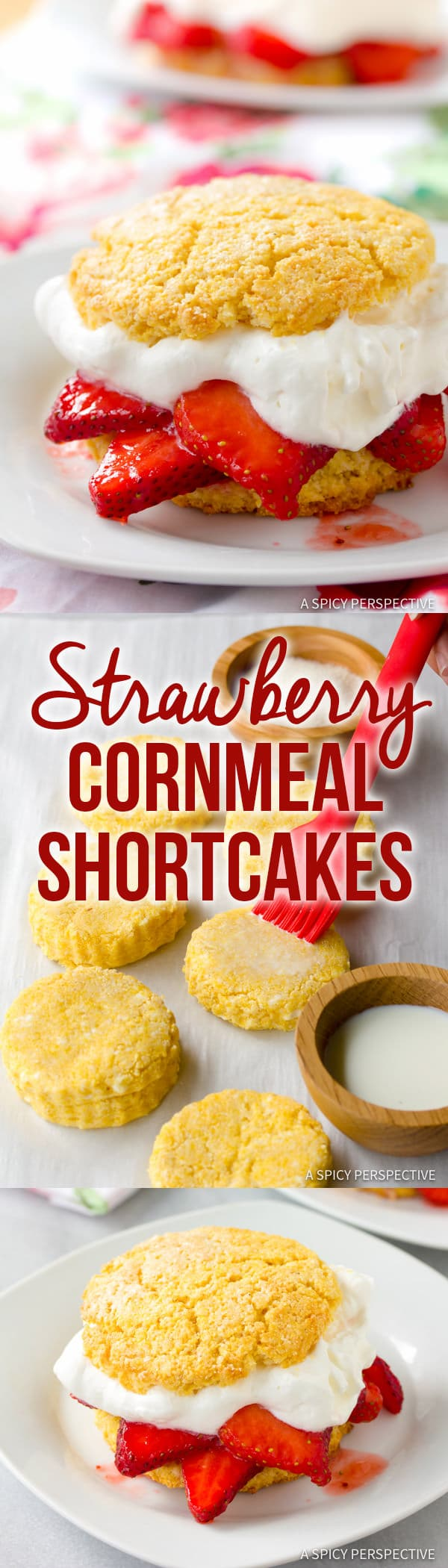 Fresh Rustic Strawberry Shortcakes Recipe | ASpicyPerspective.com