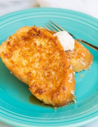 Crispy Coconut French Toast on ASpicyPerspective.com #coconut