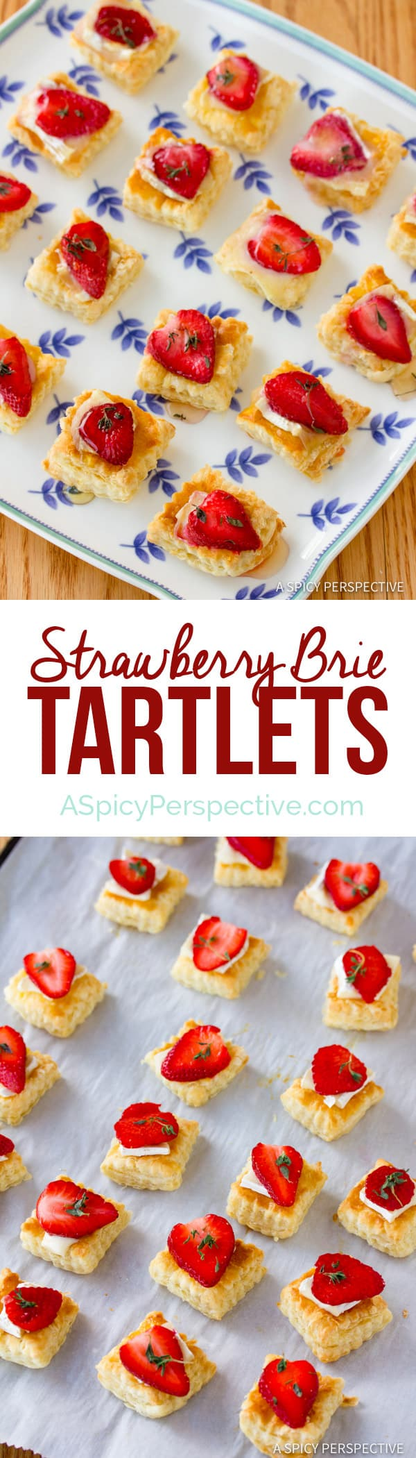 Easy Strawberry Brie Tartlets Recipe | ASpicyPerspective.com
