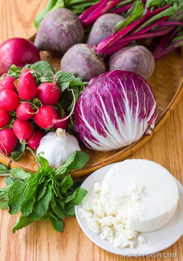 Roasted Beet and Radicchio Salad | ASpicyPerspective.com