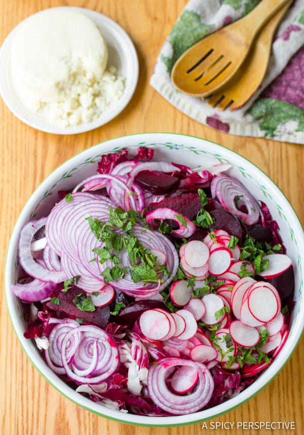 How to Make Roasted Beet and Radicchio Salad | ASpicyPerspective.com