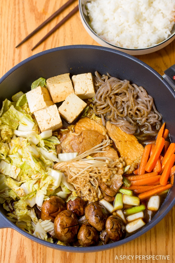 Traditional Pork Sukiyaki Recipe #healthy #lowcarb #glutenfree