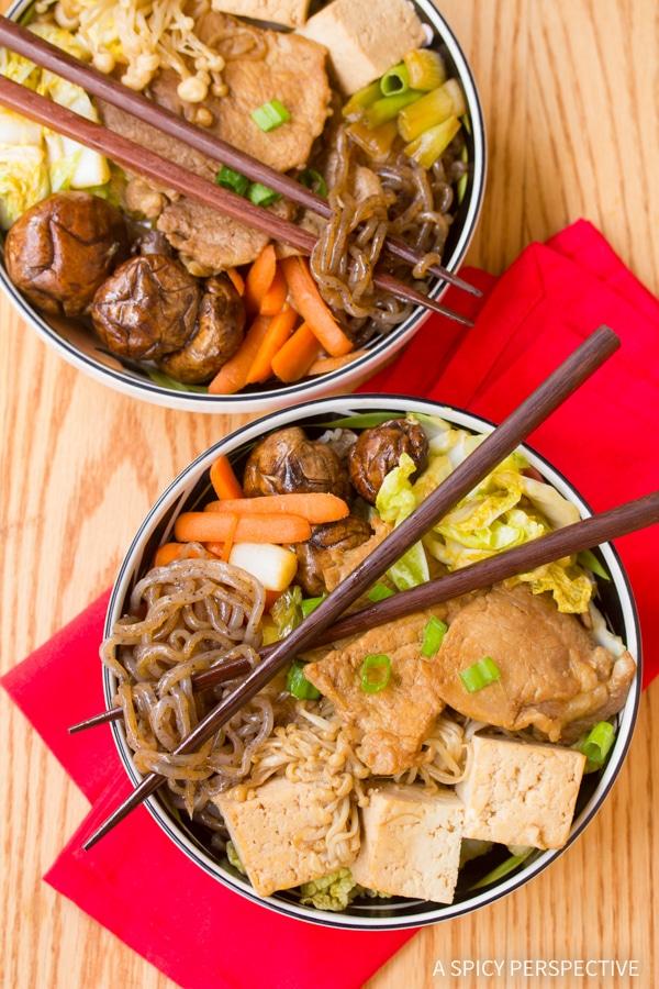 Pork Sukiyaki Recipe #healthy #lowcarb #glutenfree