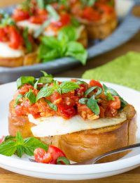 Healthy Roasted Fish Bruschetta Recipe