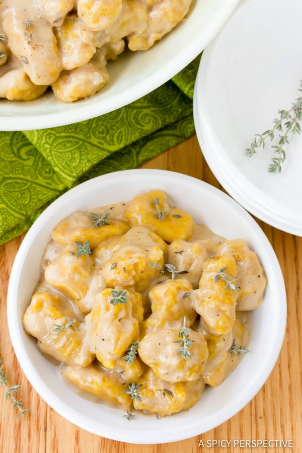 Perfect Butternut Squash Gnocchi with Whiskey Cream Sauce   ASpicyPerspective.com