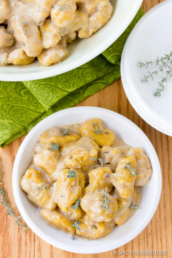 The Perfect Butternut Squash Gnocchi with Whiskey Cream Sauce   ASpicyPerspective.com