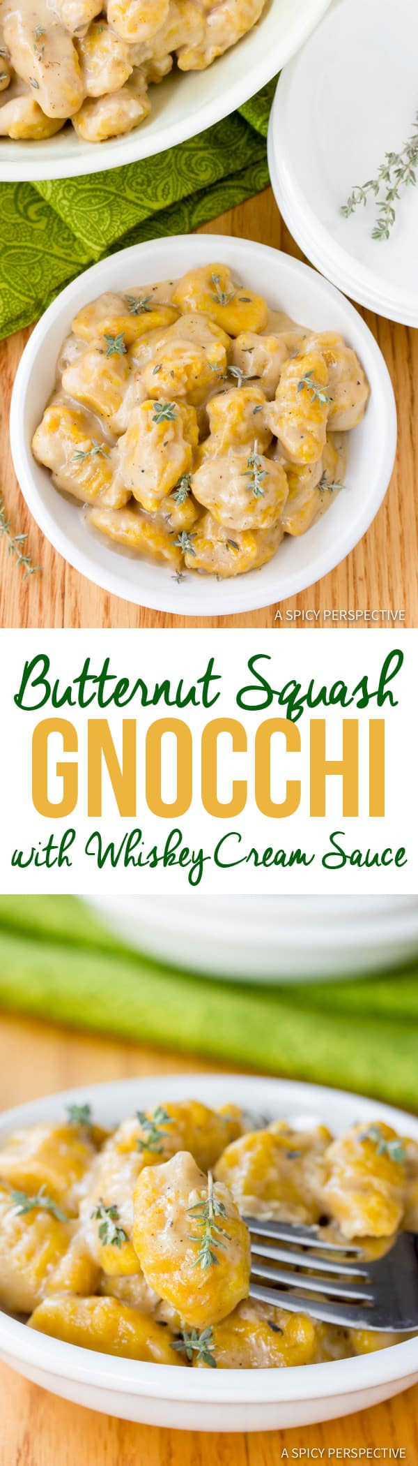 Amazing Butternut Squash Gnocchi with Whiskey Cream Sauce   ASpicyPerspective.com