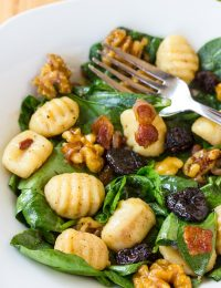 Gnocchi and Wilted Spinach Salad Recipe