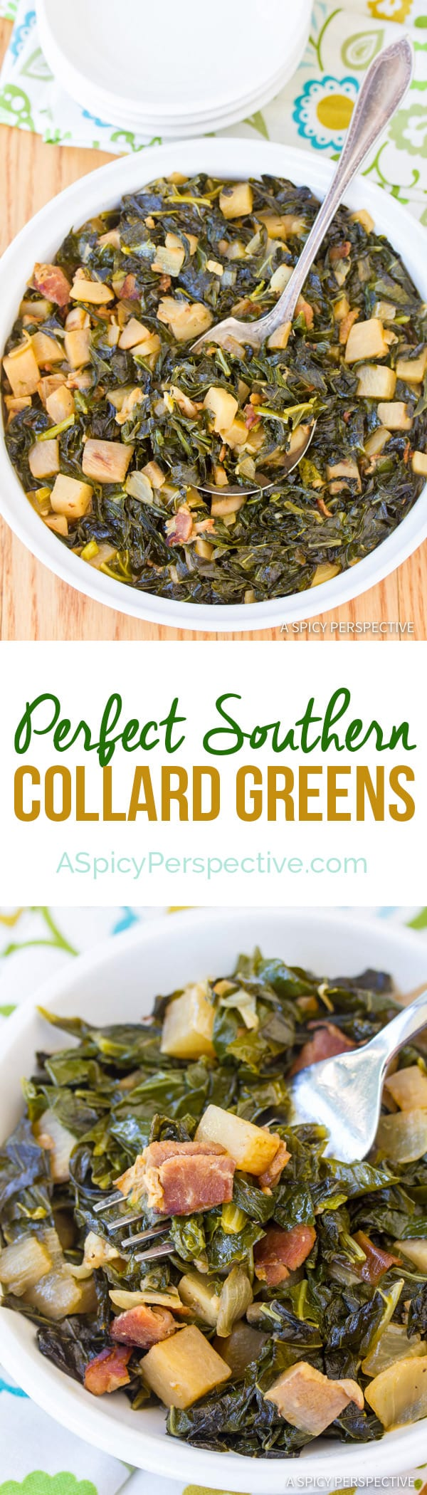The Perfect Southern Collard Greens | ASpicyPerspective.com
