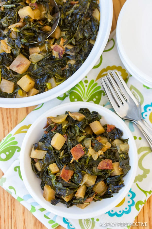 Must-Make Perfect Southern Collard Greens | ASpicyPerspective.com
