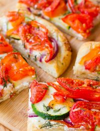Roasted Vegetable Flatbread | ASpicyPerspective.com