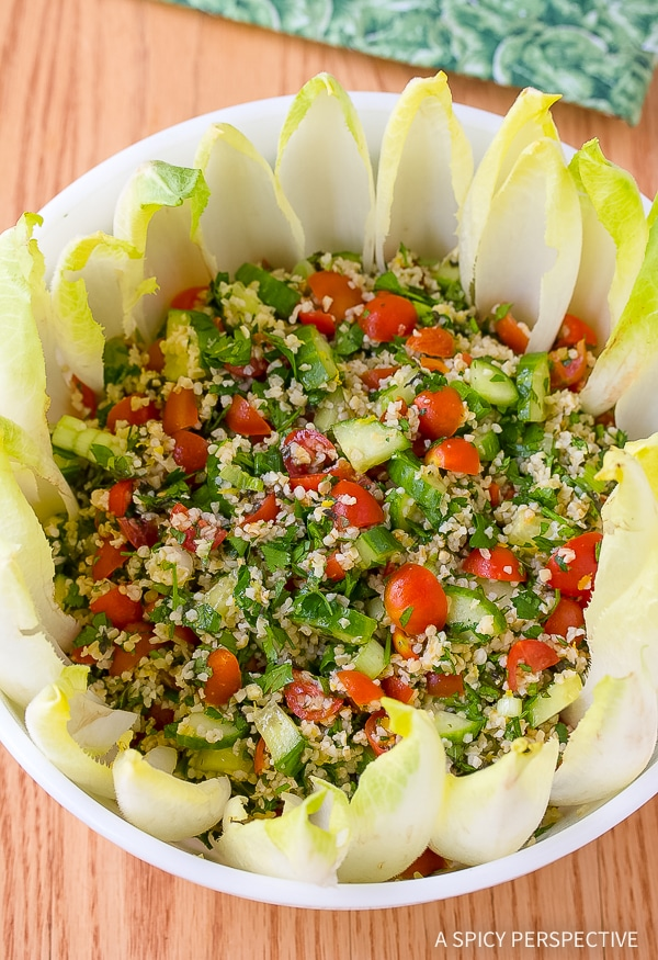 Easy Tabouli (Tabbouleh) with Feta and Endive Recipe