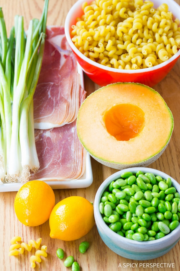 Making: Prosciutto and Edamame Pasta with Lemon Glaze Recipe