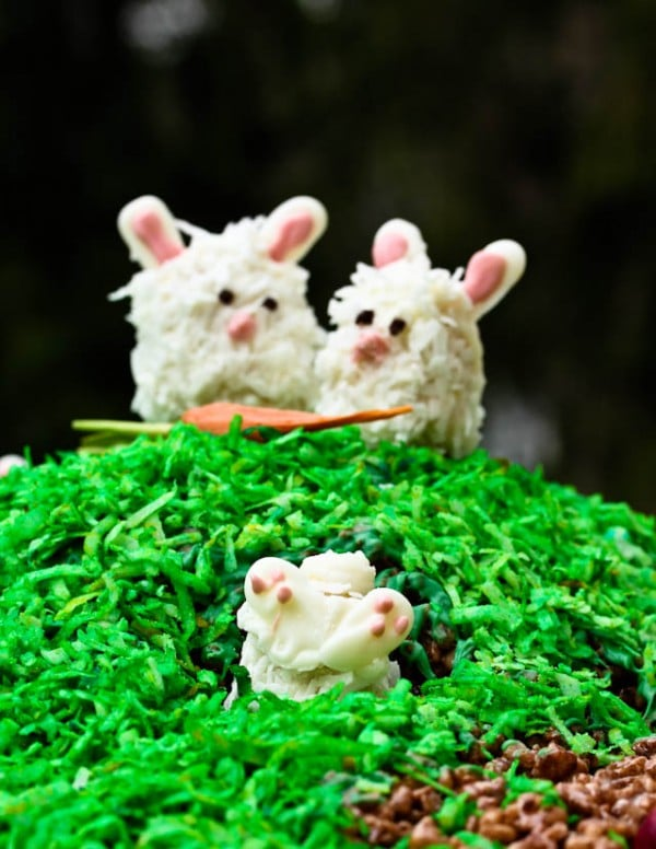 Easter Rice Krispies Chicks in Nests