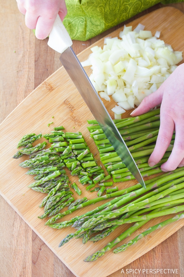 Making Light And Creamy Asparagus Soup
