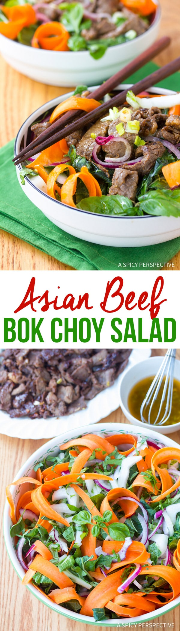Zesty Asian Beef and Bok Choy Salad ( Low Carb & Low Fat!)