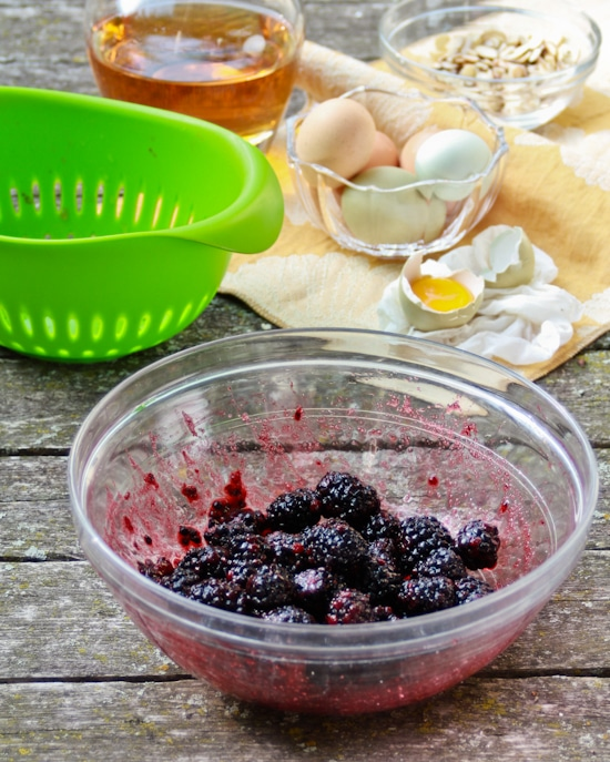 Blackberry Shortcakes-Blackberry Sauce