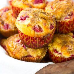 Perfect Strawberry Rhubarb Yogurt Muffins Recipe