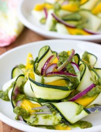Zucchini and Green Chutney Salad #healthy #glutenfree