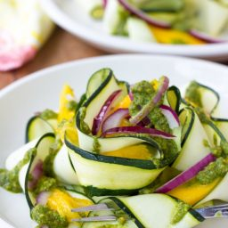 Zucchini and Green Chutney Salad #healthy #glutenfree