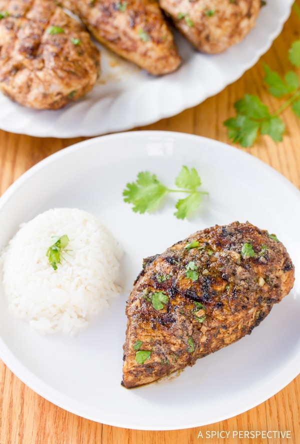 Easy Indian Grilled Chicken #healthy #paleo #glutenfree
