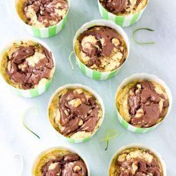 Zucchini Nutella Swirl Muffins