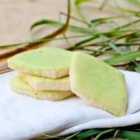 Lemongrass Shortbread Cookies