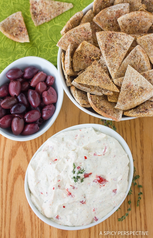 Spicy Feta Dip with Roasted Red Peppers Recipe