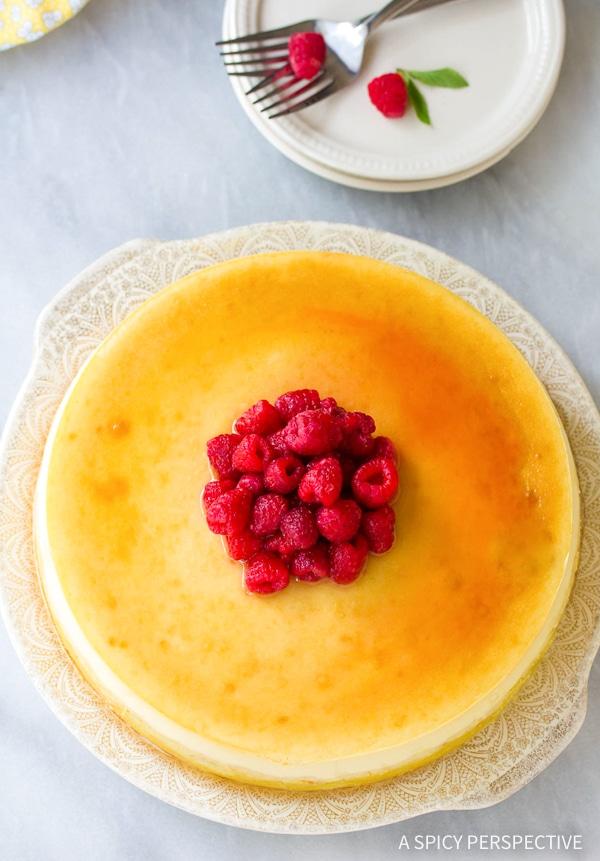 Best Yogurt Cheesecake with Orange Shortbread Crust and Chambord Honey Drizzle Recipe