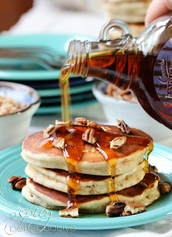 Awesome Toffee Nut Pancakes