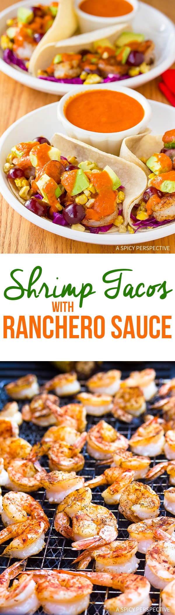 Zesty Shrimp Tacos Recipe with Ranchero Sauce