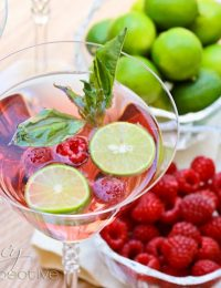 Basil Raspberry Mojitos
