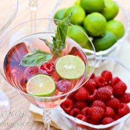 Basil Raspberry Mojitos