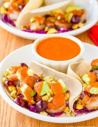 Shrimp Tacos Recipe with Ranchero Sauce