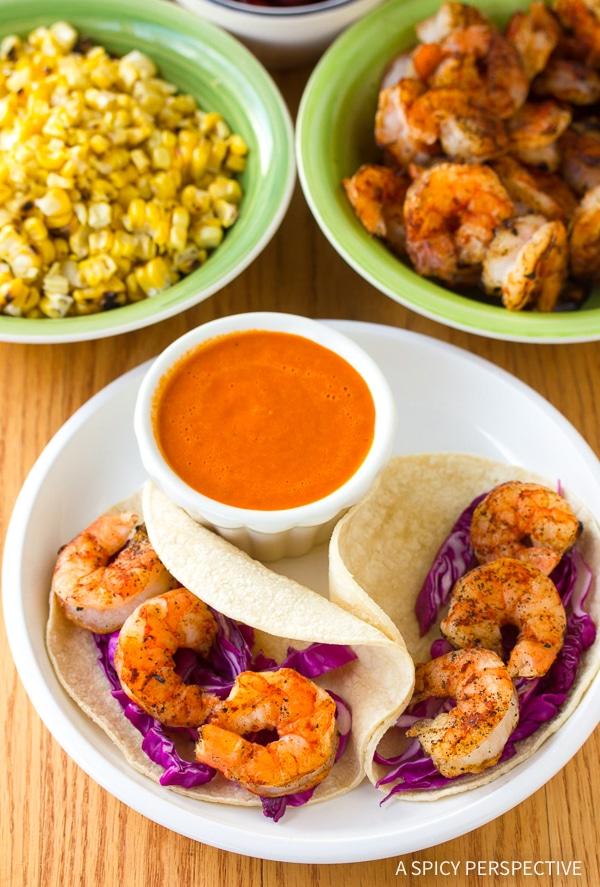 How To: Shrimp Tacos Recipe with Ranchero Sauce