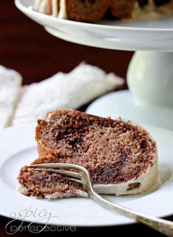 Fabulous Velvet Brownie Swirl Cake #bundtcake