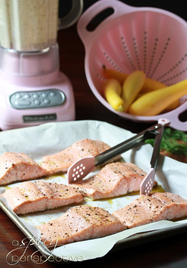Roasted Salmon Recipe #ASpicyPerspective #Salmon #RoastedSalmon #OvenRoastedSalmon #RoastedSalmonRecipe #PeppercornSauce #PinkPeppercorn #PinkPeppercornSauce #MothersDay