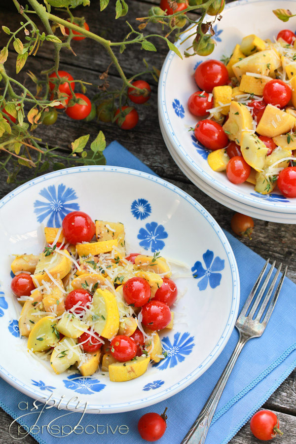 Yellow Squash Recipe with Blistered Tomatoes