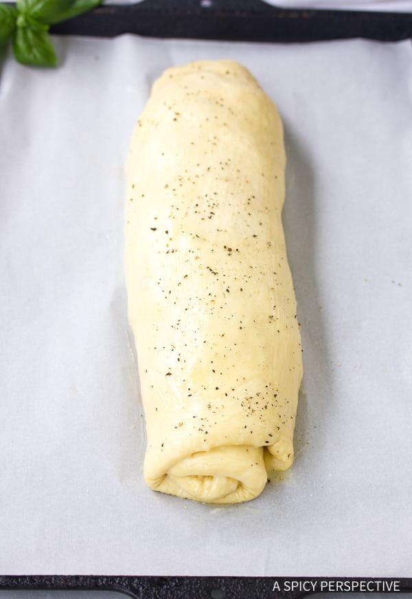 Rolled Dough #ASpicyPerspective #Stromboli #StromboliRecipe #ClassicStromboli #HowtoMakeStromboli #WhatisStromboli #Dinner #Italian