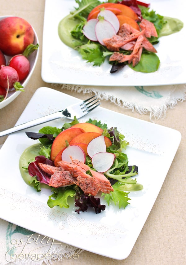 Smoked Trout Salad with Avocado Dressing - ASpicyPerspective.com