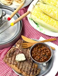 Porterhouse Steaks with Compound Butter