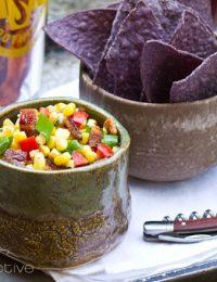Candied Bacon Corn Salsa | ASpicyPerspective.com
