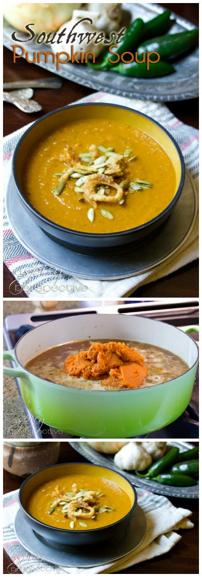 Zesty Rich Pumpkin Soup that is also light and healthy!