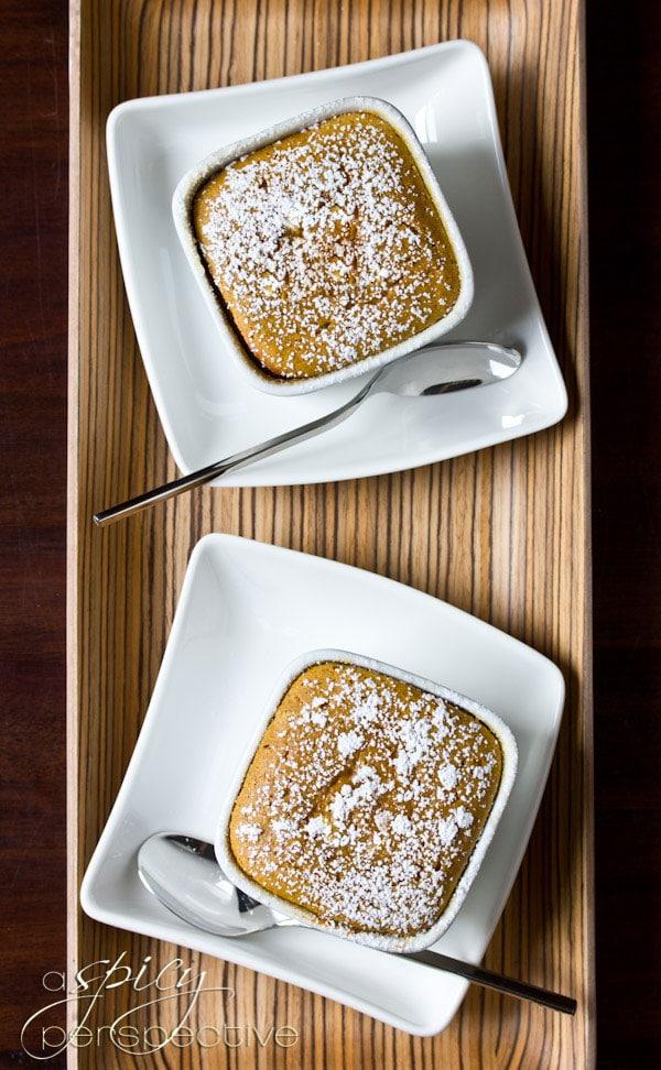 REAL Sweet Potato Souffles for Thanksgiving | ASpicyPerspective.com #thanksgiving #recipes #sweetpotato