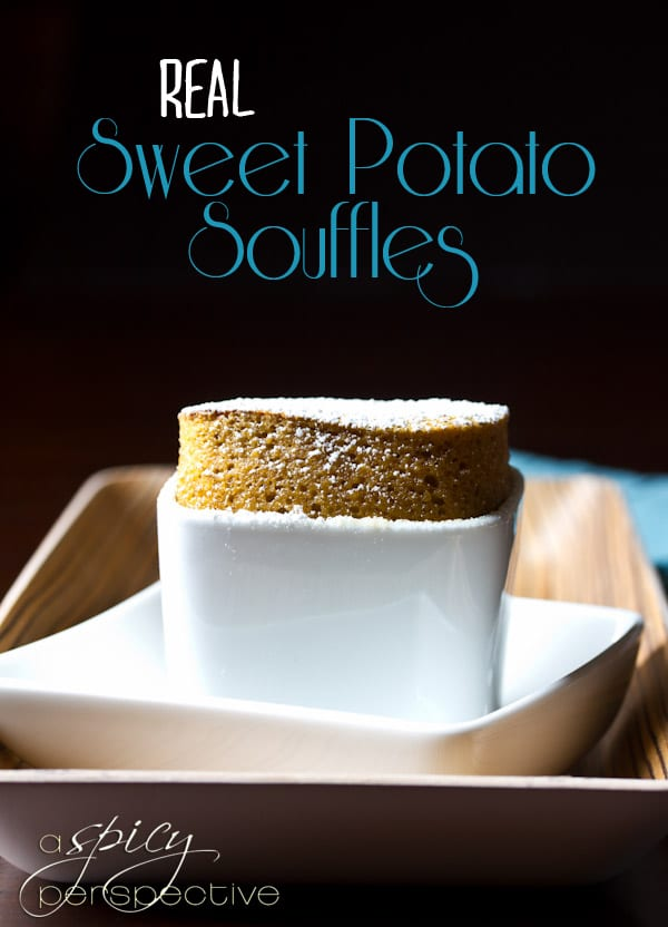 REAL Sweet Potato Souffles | ASpicyPerspective.com #thanksgiving #recipes #sweetpotato