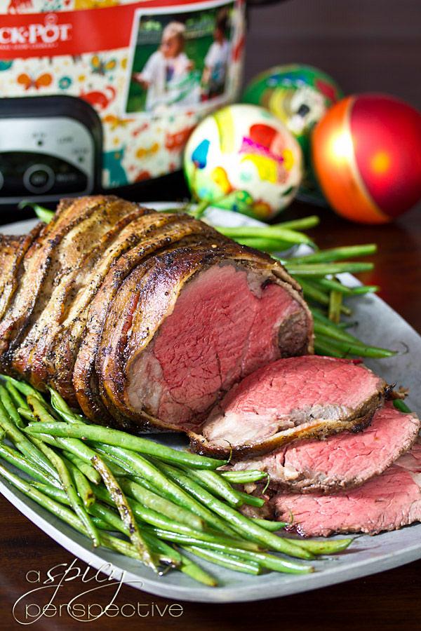 Crock-pot Beef Tenderloin with Balsamic Glaze   ASpicyPerspective.com #holidays #crockpot #slowcooker #recipes