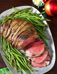 Crockpot Beef Tenderloin Recipe | ASpicyPerspective.com #holidays #crockpot #slowcooker #recipes